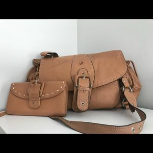 Leather Hype bag with matching wallet